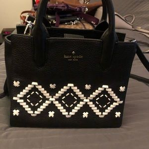 Kate Spade Black and white crossbody.